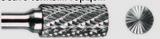 B192506. Цилиндрическая борфреза с режущим торцом 19x25x6x69