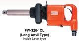 FW-420-1CL. Пневмогайковерт прямой удлиненный шпиндель. Момент 900-2500 Нм. Ход 4500 об/мин
