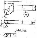 Резцы строгальные проходные изогнутые с пластинами из быстрорежущей стали по ГОСТ 18887-73