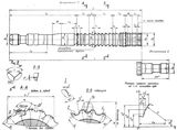 Протяжки для шлицевых отверстий с эвольвентным профилем диаметром от 45 до 9О мм модулем от 3 до 5 мм с центрированием по наружному диаметру по ГОСТ 25160-82