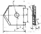 Пластины сменные режущие из быстрорежущей стали для сборных перовых сверл по ГОСТ 25526-82
