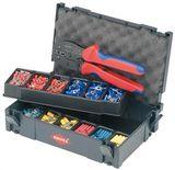 Набор кабельных наконечников с инструментом для опрессовки, для кабельных наконечников KNIPEX 97 90 21