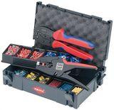 Набор кабельных наконечников с инструментом для опрессовки, для кабельных наконечников KNIPEX 97 90 22